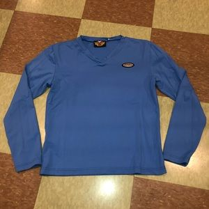 Vtg 90s Harley Davidson Blue long sleeve top sm